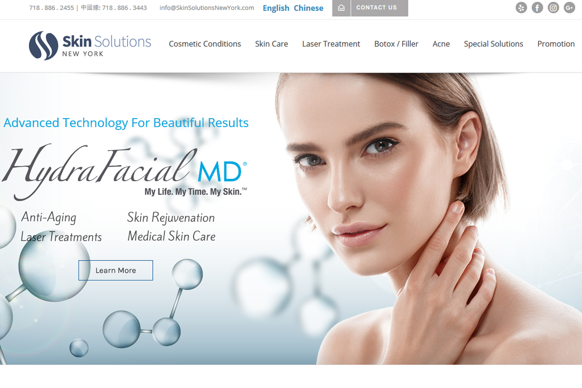 NY Skin Solution website capture
